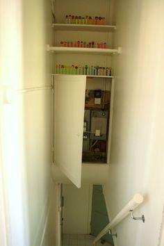 Stairway Storage storage above stairwell - google search | stairs | pinterest