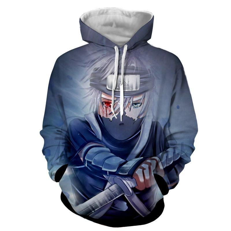 Kakashi young ninja sharingan fan art design cool hoodie