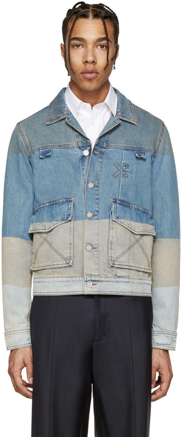 6d74fcd8b Kenzo - Blue Denim Colorblocked Jacket | SP 2017 | Denim fashion ...