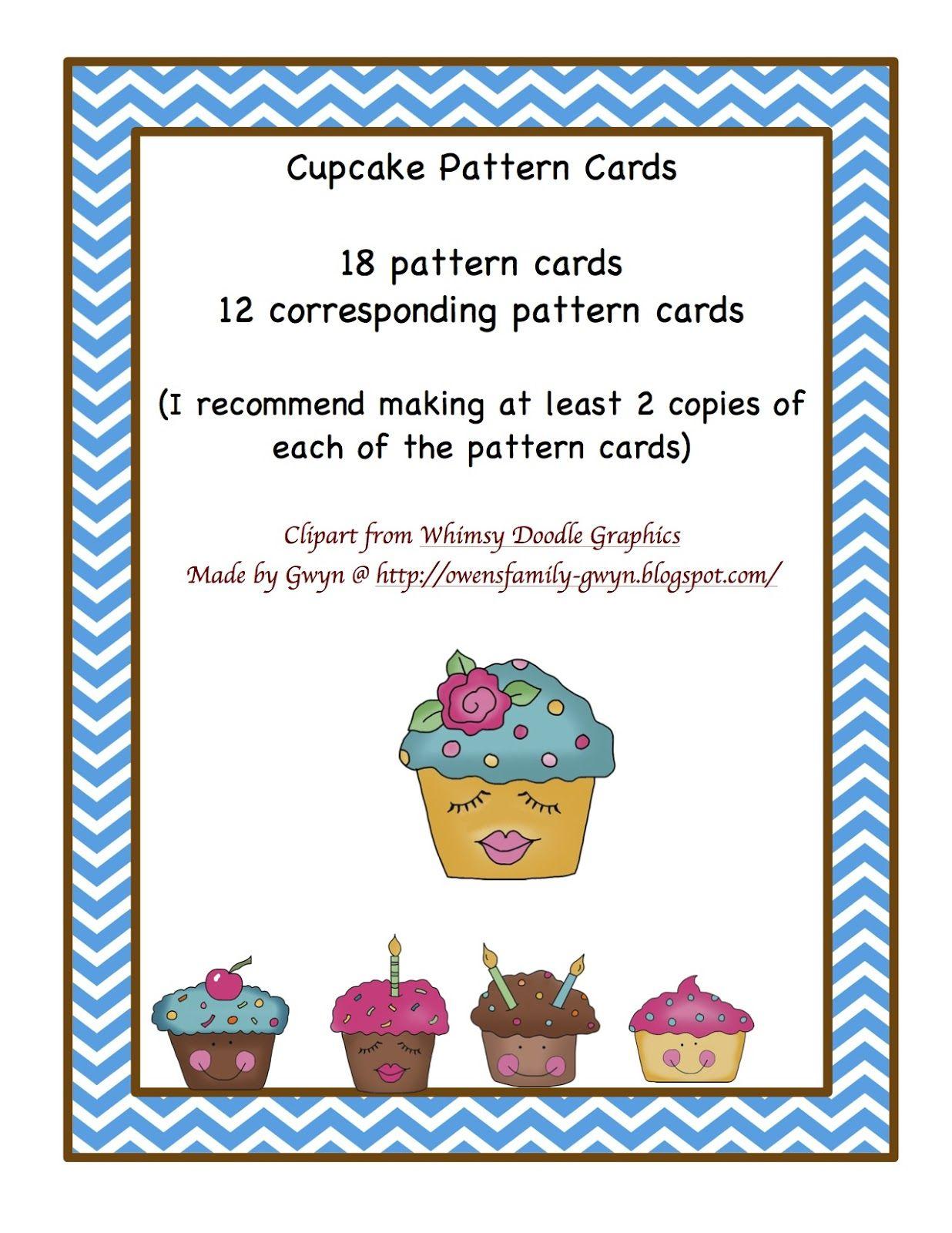 Cupcake Pattern Cards