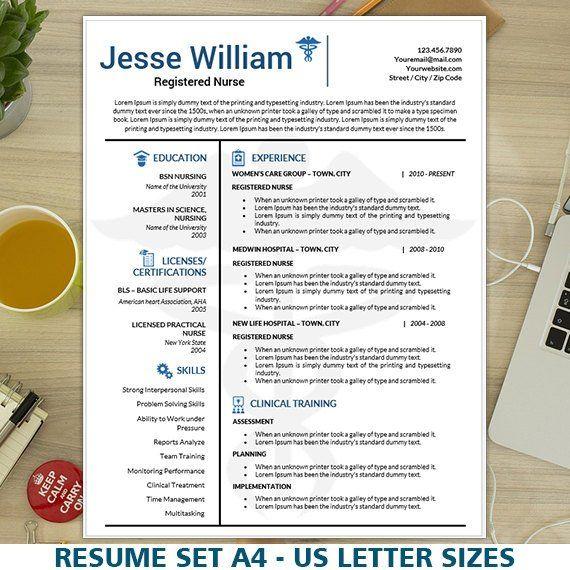 nursing resume template  medical resume template  rn