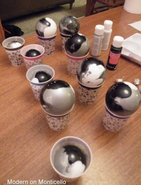 A mom and daughter sit down to craft together The end result is - christmas decorations diy