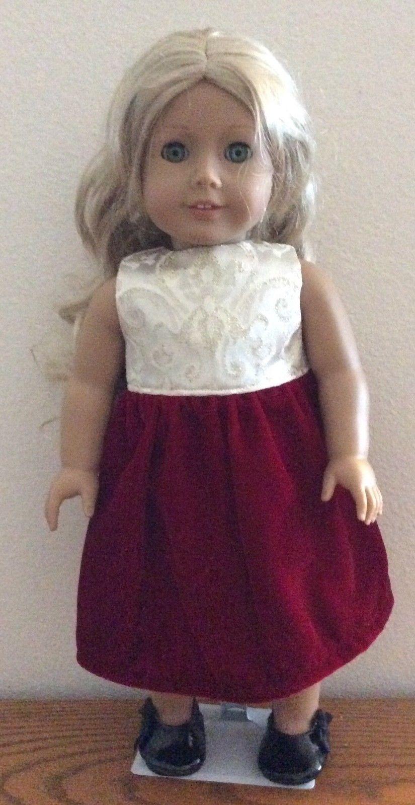 3464aa20f86 Elegant Red Velvet Dress 18 Inch American Girl Doll FREE SHIPPING ...