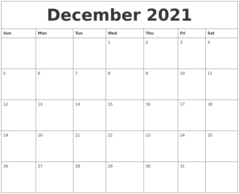 December 2021 Blank Monthly Calendar Template Get Printable Calendar July Monthly Calendar Template Blank Monthly Calendar Template