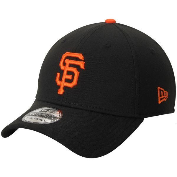 7d01bb62d3534 Men s San Francisco Giants New Era Black Team Classic Home 39THIRTY Flex  Fit Hat