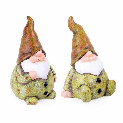 Set Of Two Green Finish Terracotta Garden Gnomes Gardens2you Http Www Amazon Co Uk Dp B00khn3jai Ref Cm Sw R Pi Dp Du0cvb Gnomes Gnome Ornaments Gnome Garden