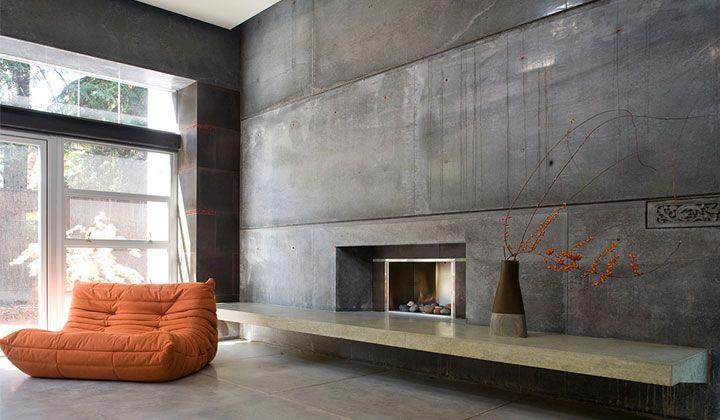 modern For the home Pinterest Interiores, Decoracion interior - paredes de cemento