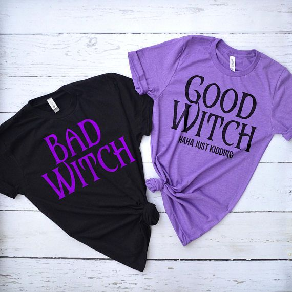 1cd42e14ca Good Witch Bad Witch Shirts, Best Friend Matching Shirts, Halloween ...