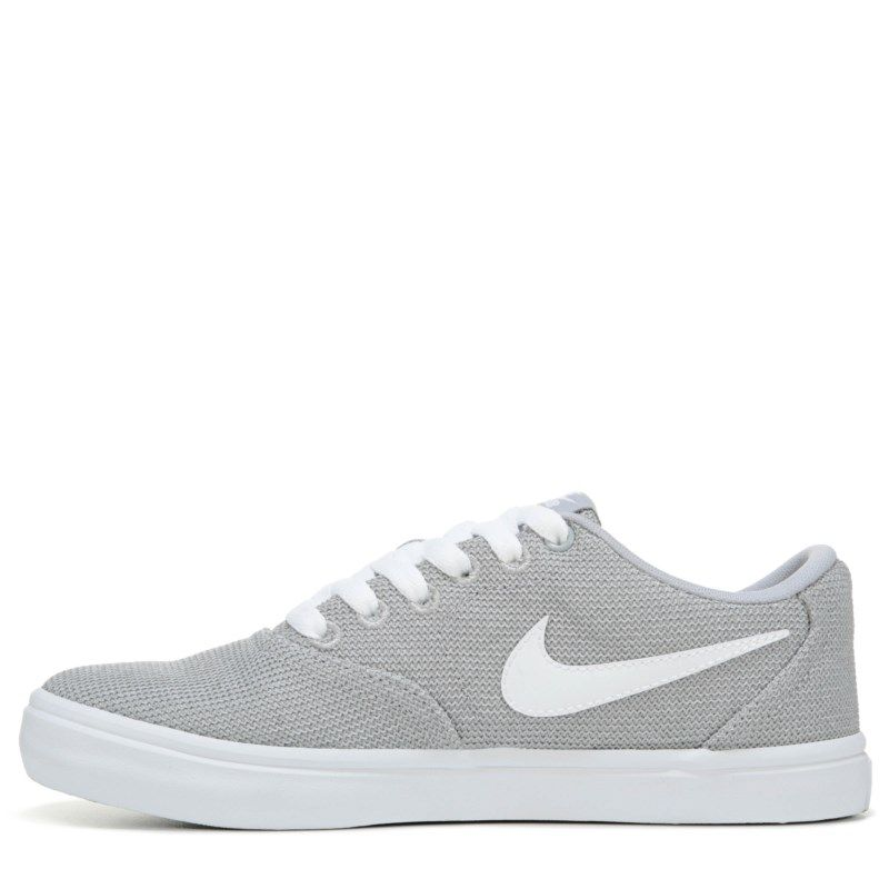 97e06dc8bc7ded Nike Women s Nike SB Check Solar Canvas Skate Shoes (Wolfgrey White)