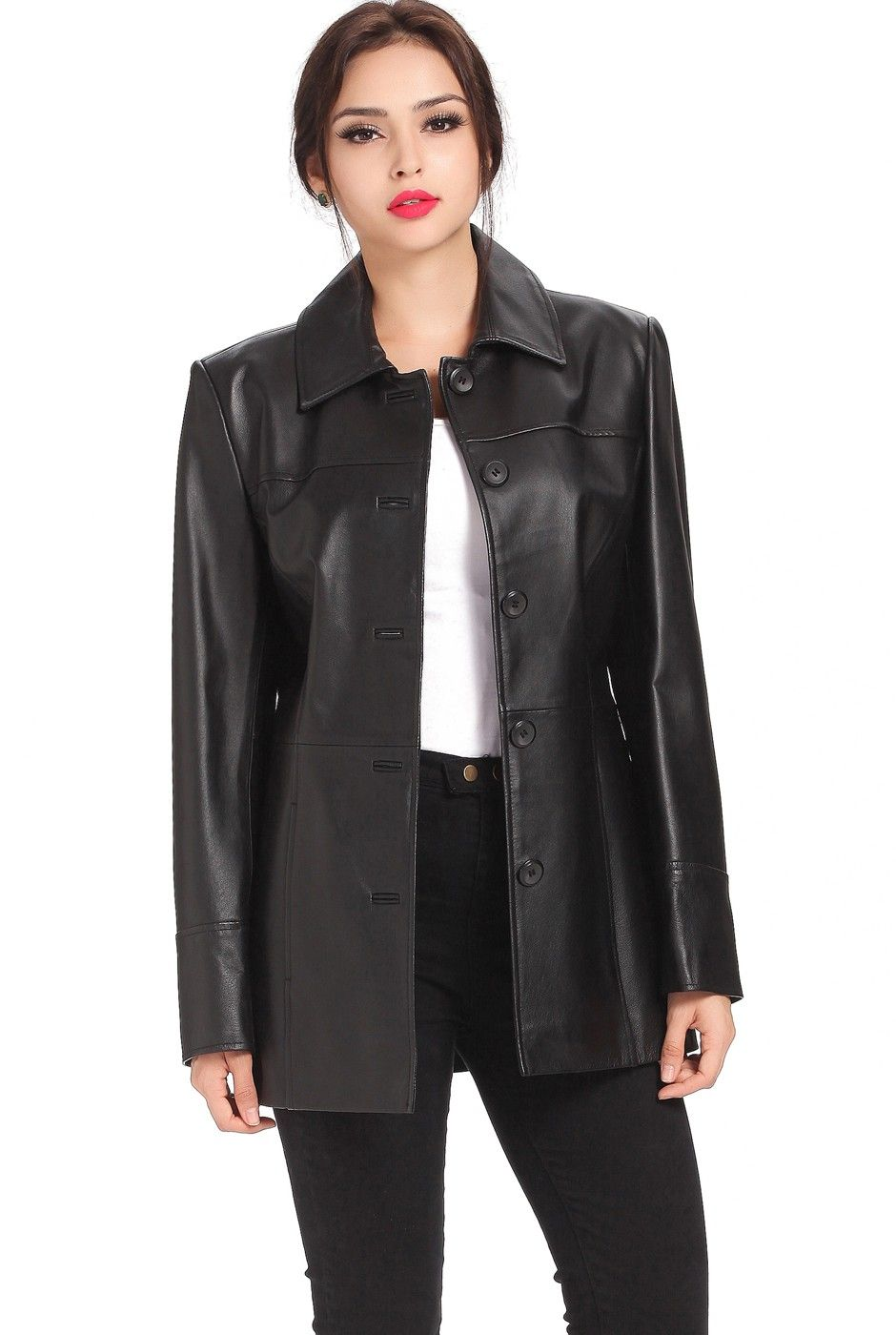 1000  images about Women&39s Leather &amp Faux Leather Jackets on