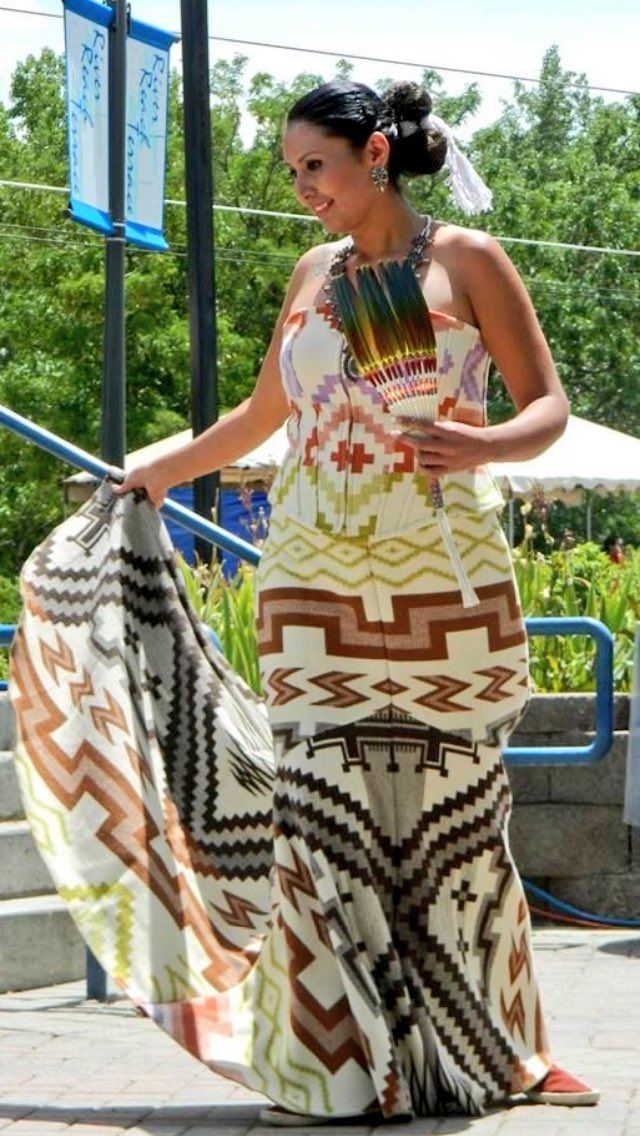 5cf128fef74 Traditional authentic Native designs by Irene Begay. Navajo Native Wedding  Dress