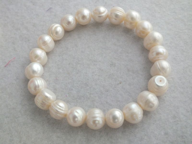 Find More Hologram Bracelets Information about free shipping!!! A 4274 White Freshwater pearl Bracelet With 7 8mm Pearl Beads ,High Quality bracelet gothic,China bracelet mirror Suppliers, Cheap bracelet flashlight from Changzhou Day Colour Jewelry Co., Ltd. on Aliexpress.com