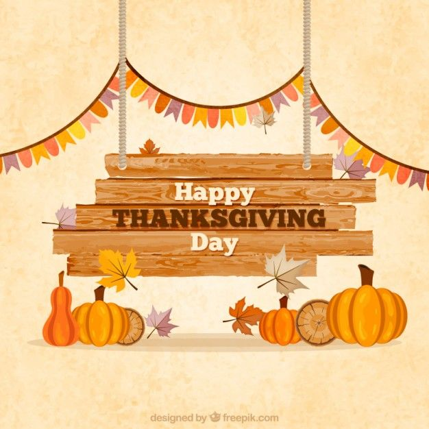 Wooden thanksgiving sign Free Vector special occasions Pinterest - free holiday flyer templates word