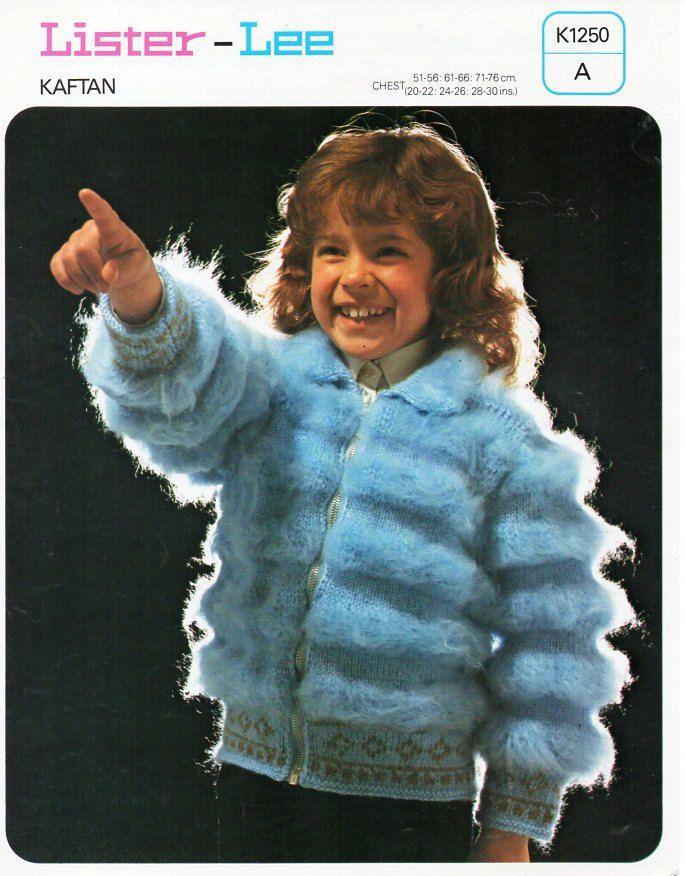 Baby childs childrens furry jacket knitting pattern pdf girls fur ...