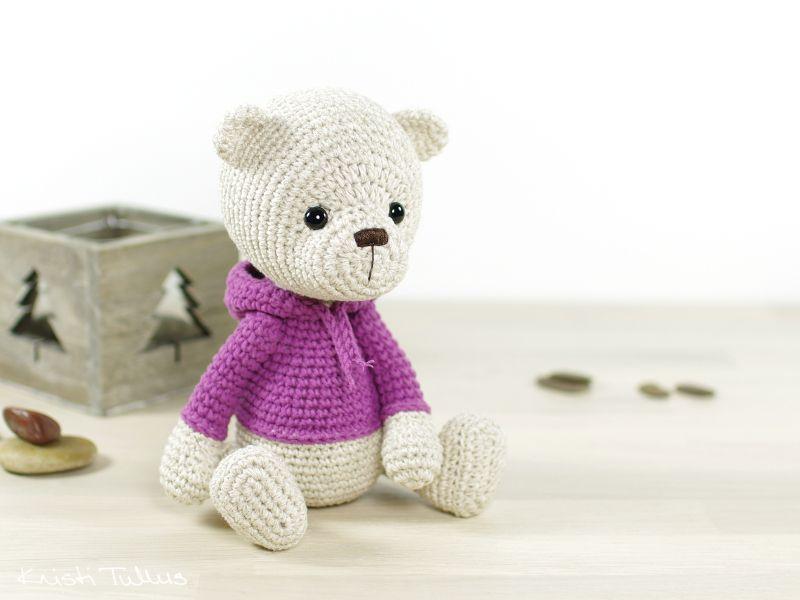 Teddy bear in a hoodie (Kristi Tullus\' Blog - In English) | Amirigumi