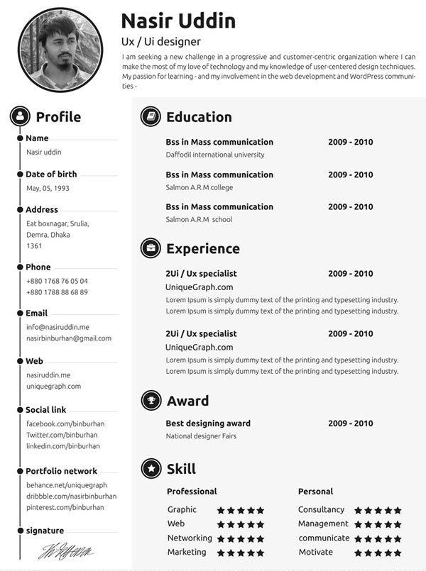 ressources   u2013 10 nouveaux templates pour faire votre cv