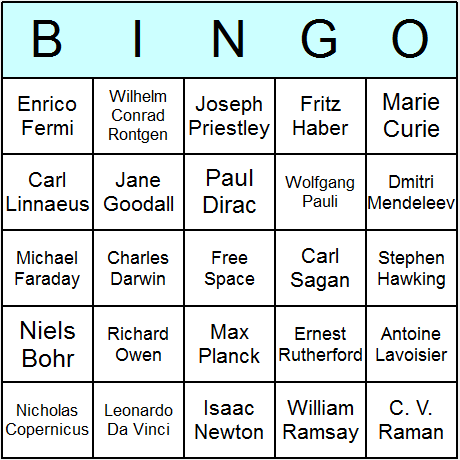 free printable science bingo cards~ this site has all kinds, Skeleton