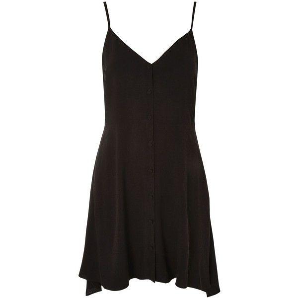 Topshop Petite Button Asymmetric Dress (€33) ❤ liked on Polyvore ...