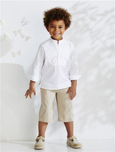 ensemble gar on chemise bermuda blanc camel blanc gris vertbaudet enfant 30 eur robe. Black Bedroom Furniture Sets. Home Design Ideas