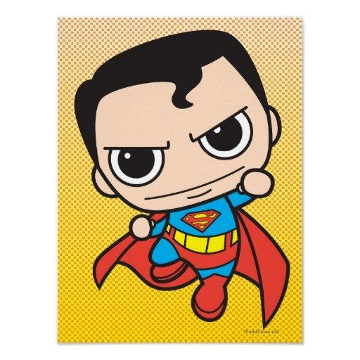 Chibi Superman Flying Print