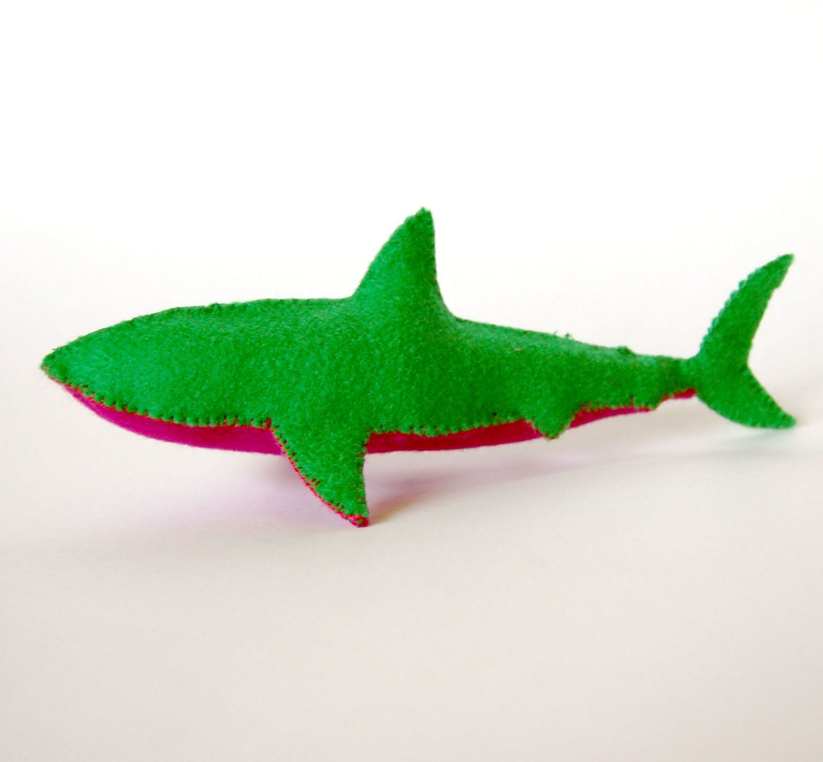 Here is a cute little felt shark project for you all. There is a ...