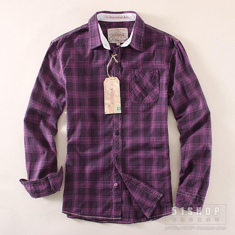 c7794f3db2db0 Promotion Men Plaid Shirts 2016 New Autumn Slim Long Sleeve Brand ...