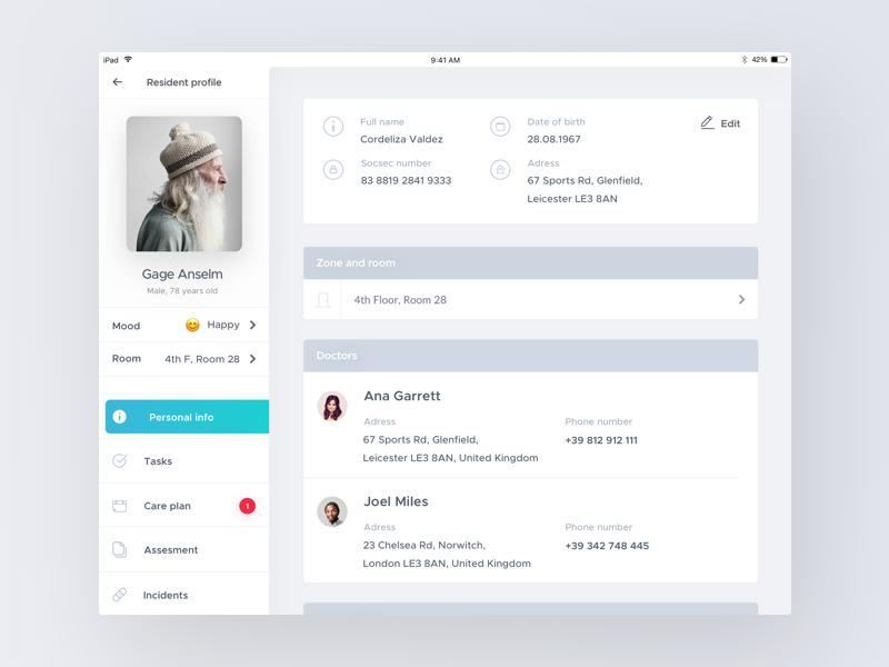 Ipad Resident Profile App Design Layout Web Design Travel Website Design
