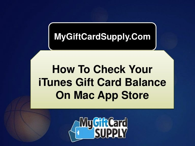 How to check your itunes gift card balance on mac app