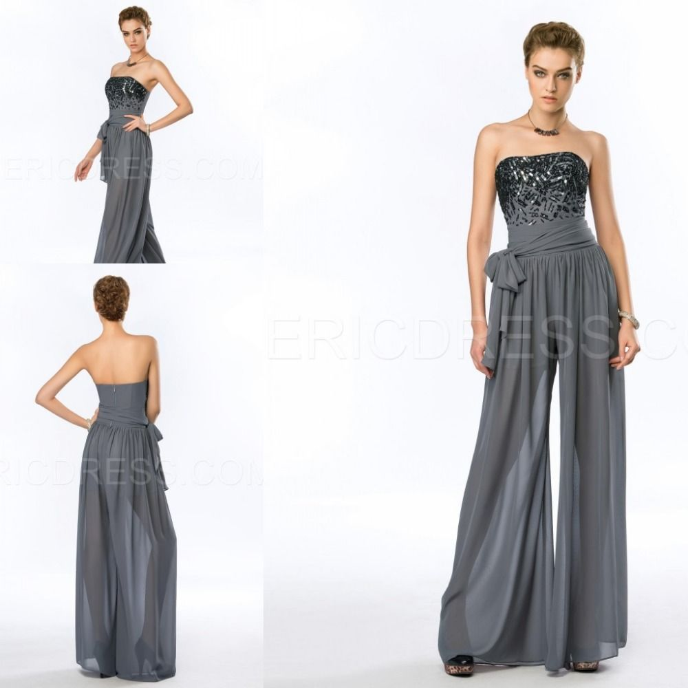 New-Design-Beading-Evening-Gown-Fashion-Long-Beach-Pants-For-Women ...