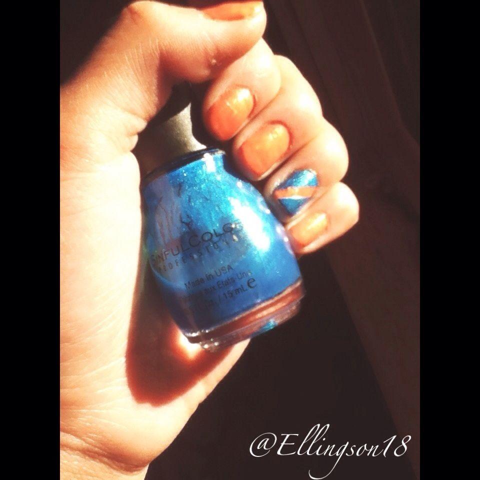 Oktober Nägel! #nails #fall #orange #blue #love – #nails    – nails fall