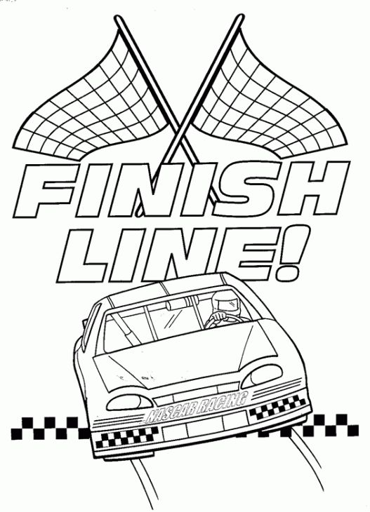 Inspirational Nascar Coloring Pages 33 NASCAR Car Reaches Finish