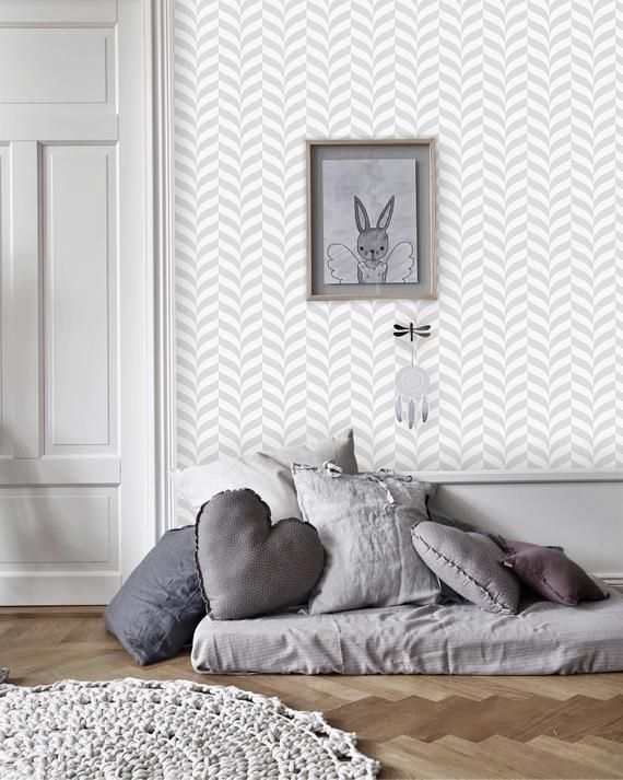 Geometric Vector Removable Wallpaper White And Gray Wall Mural Peel And Stick 237 Grey Walls Wall Murals How To Install Wallpaper