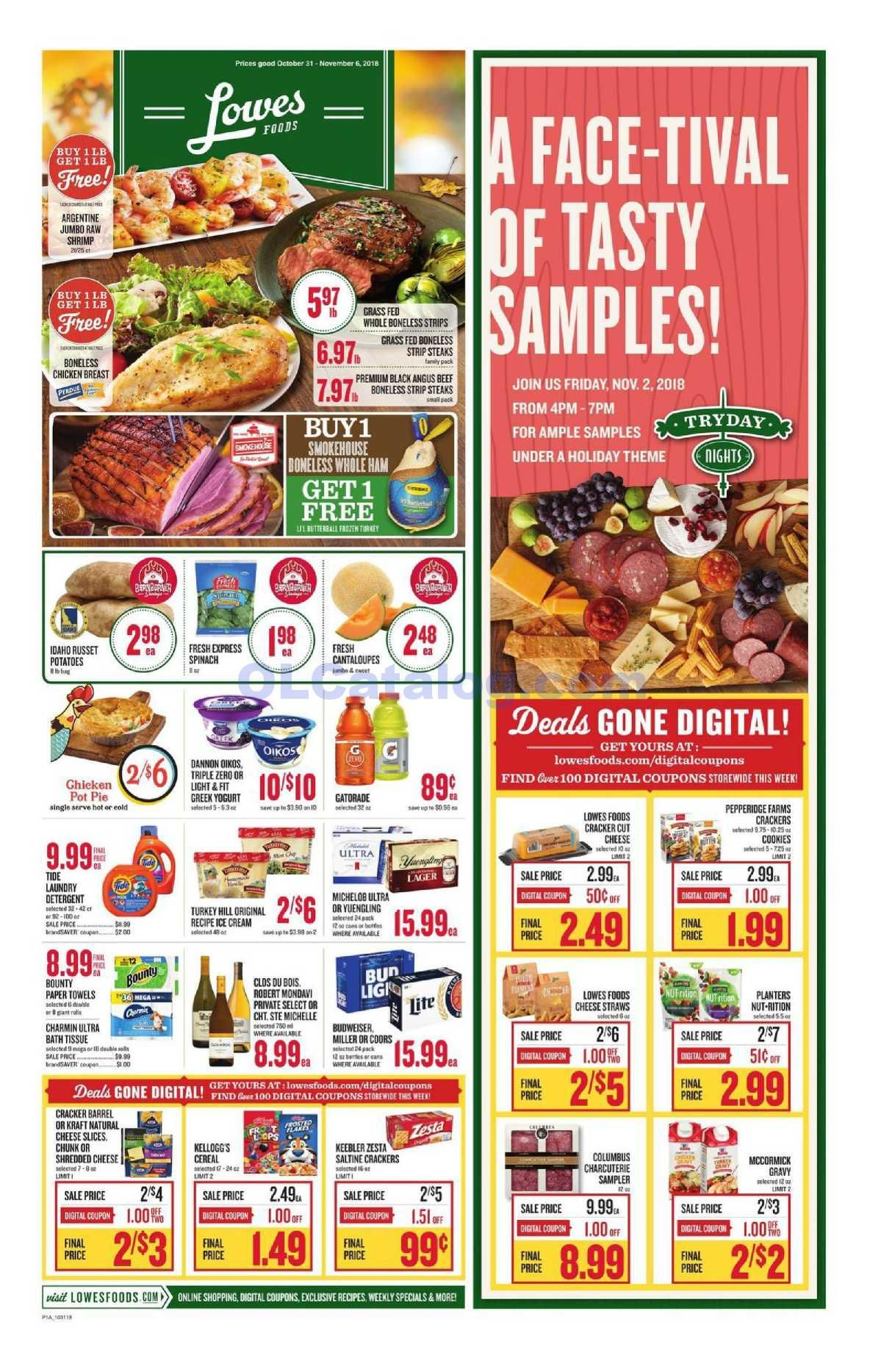 Lowes foods Weekly Ad October 31 November 6, 2018. View