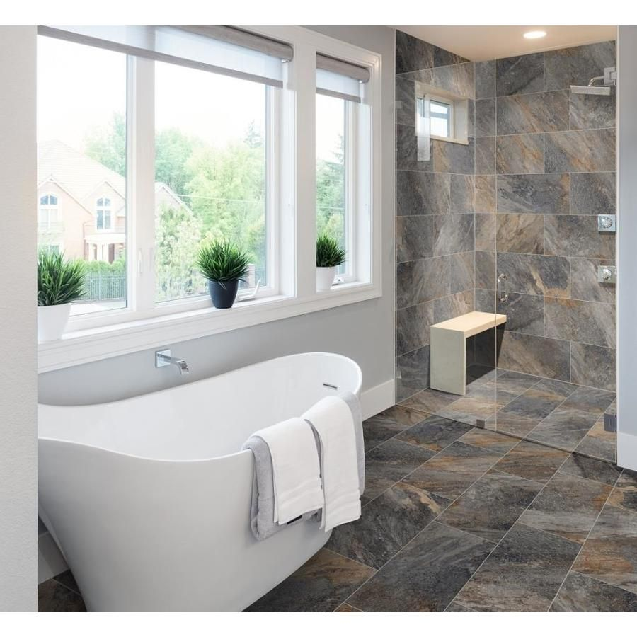 Della Torre Belmont Multicolor 12 In X 24 In Glazed Porcelain Tile Lowes Com Unique Flooring Dream Bathrooms Rustic Tile