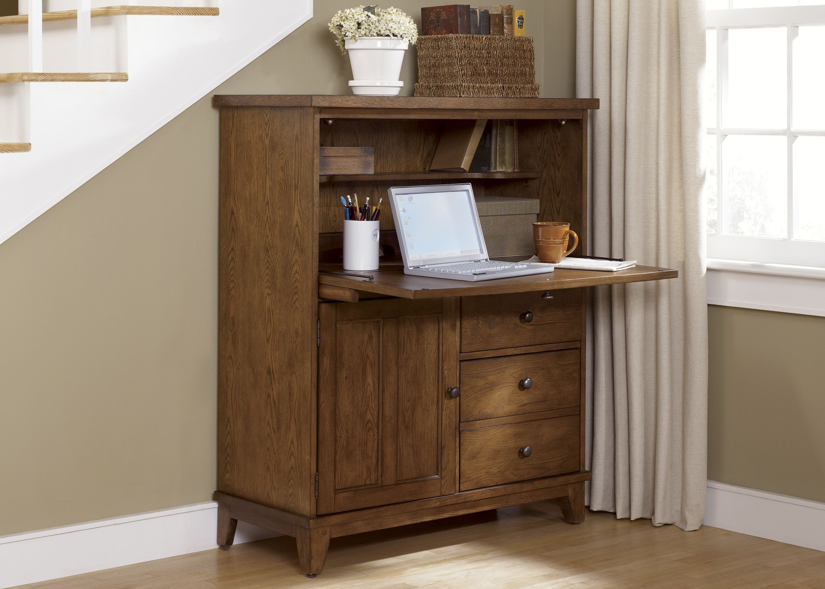 Liberty Hearthstone Computer Cabinet 382 Ho108 By Liberty Furniture For $76751