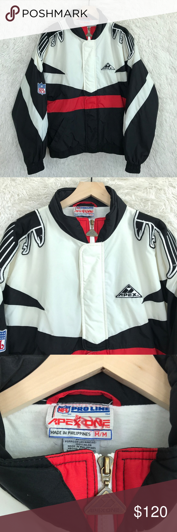Atlanta Falcons Jacket Nfl Pro Line Vintage 90s Clothes Design Fashion Jackets [ 1740 x 580 Pixel ]