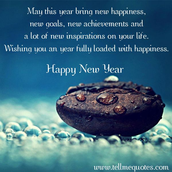 May This Year Bring New Happiness New Goals New Achievements And