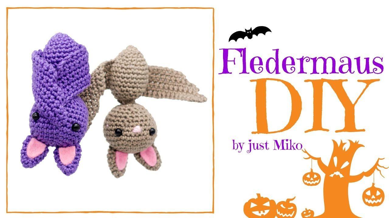 Fledermaus häkeln *Do it Yourself* Amigurumi | Halloween | | Cosetes ...
