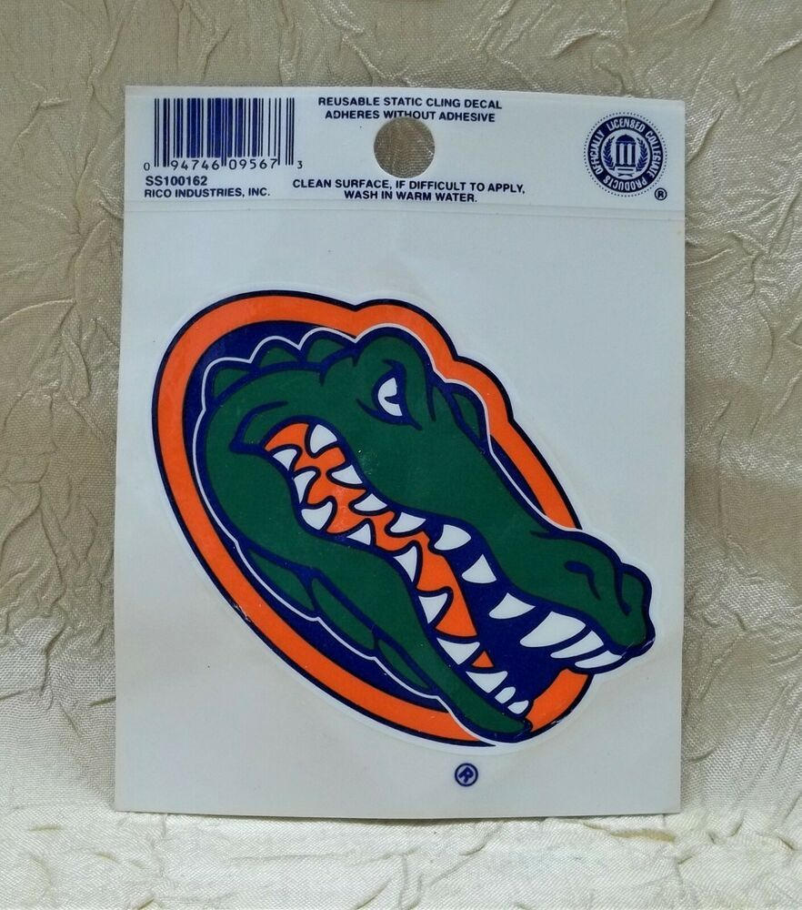 University Of Florida Gators Window Sticker Car Decal Ncaa New Window Stickers Static Cling Decals Florida Gators [ 1000 x 882 Pixel ]