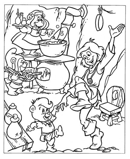 dancing with cavin coloring page from gummy bears category select from 27371 printable crafts of cartoons nature animals bible and many more