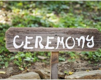 Rustic Ceremony Sign Wood Wedding Sign Wood Directional Sign Farm Barn Wedding Decor Hand Painted Wedding Signs Sign Road Signs Custom Signs