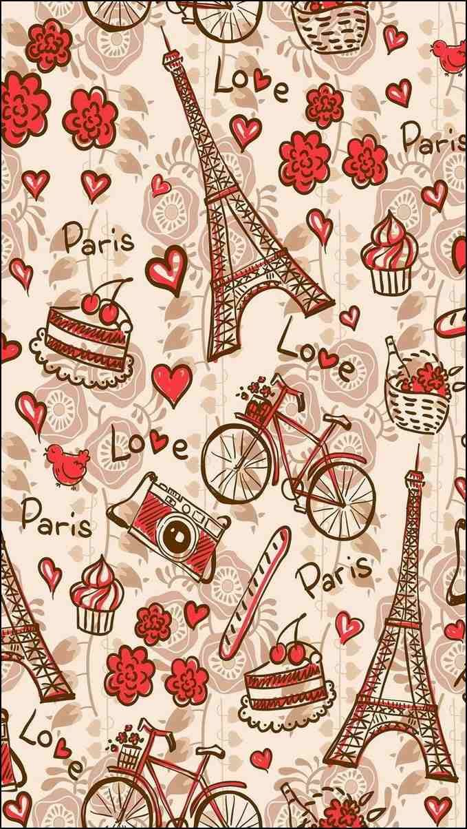 I Love Paris Wallpaper cartoon : Fondos para whatsapp Android fondos Pinterest Androide
