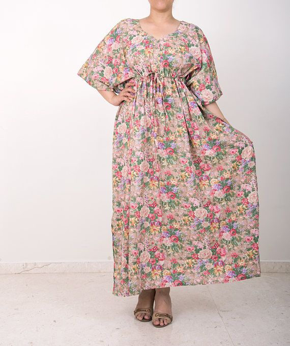 Front Button gown, cotton maternity dress, baby shower dress, kaftan ...