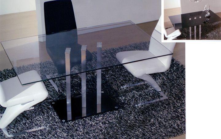 mesa rectangular de cristal diseo original medidas disponibles