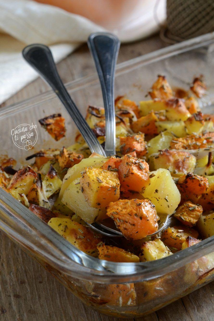 Zucca e patate al forno un contorno autunnale facilissimo for Ricette spagnole