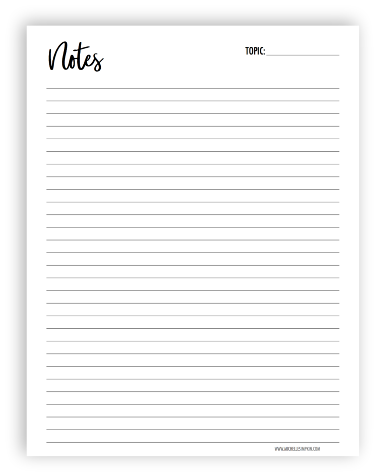 It is a picture of Decisive Free Printable Notes Pages