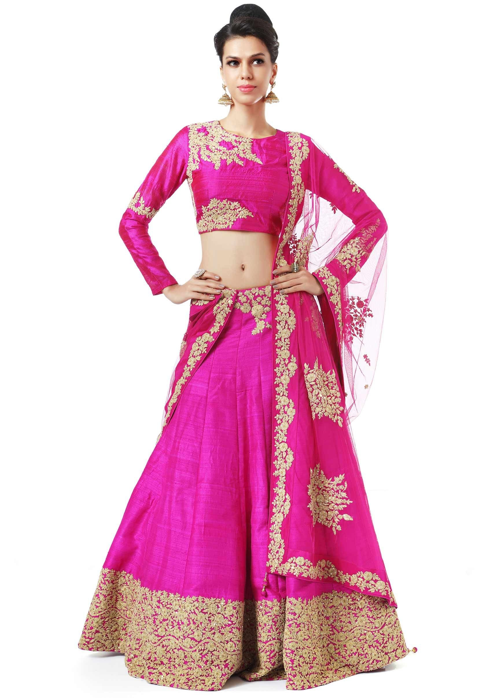 Pink lehenga adorn in zari embroidery only on Kalki | outfit that i ...