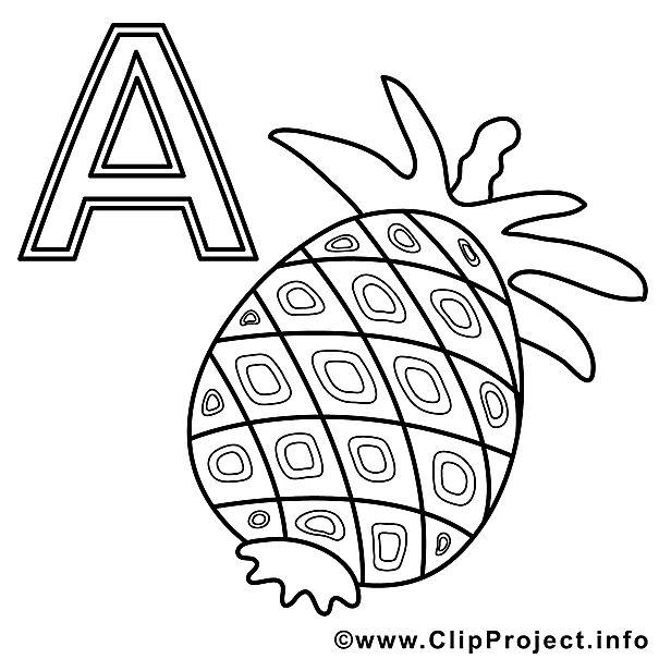 Ananas Buchstaben Zum Ausmalen Buchstaben Buchstaben Lernen
