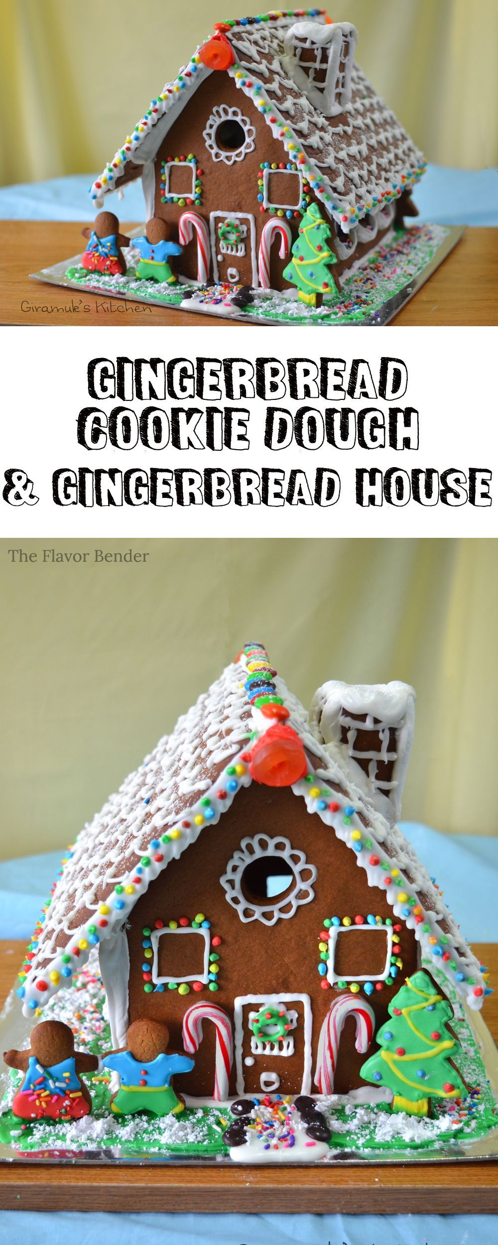 Gingerbread House {Recipe & Template}   The Flavor Bender #gingerbreadhousetemplate Gingerbread House {Recipe & Template}   The Flavor Bender #gingerbreadhousetemplate