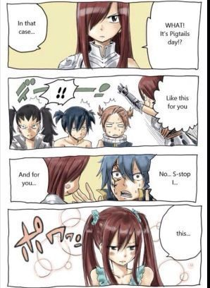 dbc3d2e69be47 Fairy Tail Pics - Jerza: Pigtails Day | ❤ Erza Scarlet ❤ | Fairy ...